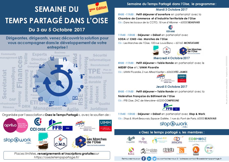 Osez le Temps Partagé vous invite à la Semaine du Temps Partagé du 3 au 5 octobre 2017